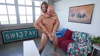 Little Dani Lynn tossed around during a hot hardcore fuck