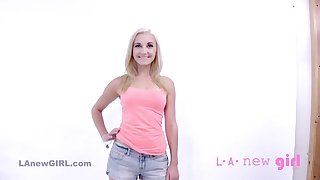 Pretty Blond Teenager Gets Facial & Shagged Convenient POINT-OF-VIEW Casting