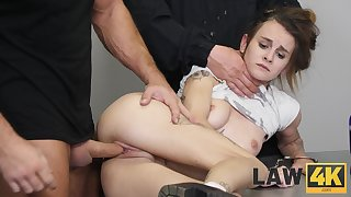 Two wild prison guards fuck the shit parts of guilty girl Adelle Unicorn