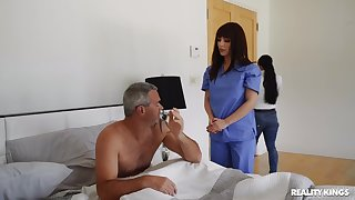 Hot nurse treats patient with good enough pussy