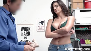 Honcho shoplifting milf Becky Bandini gets punished fully realized the table