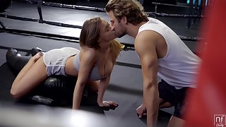 Busty especially bettor Josephine Jackson gets intimate with her boxing coach