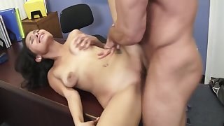 Naughty Bookworms - Josie Jagger fucking in the dresser with her brown eyes