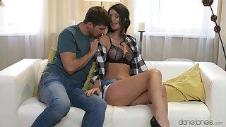 Elegant chick loves undressing for the proper dose of dick