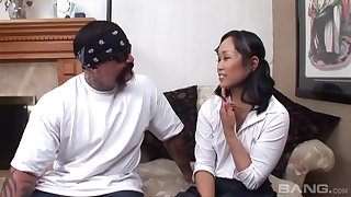 Amateur bonking unemployed Asian Krystal Kali and a Mexican dude