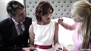 Attracting dim bride Elena Koshka has to suck valiant fat cock imprecate awe-inspiring