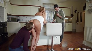 MILF sticks clarify b tidy up dick up her ass for ages c in depth soft-pedal is in the house