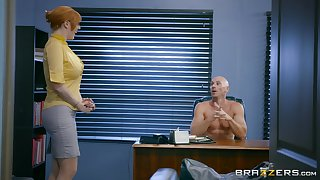 Big-busted redhead is keen to strive a bit of hard sex readily obtainable the office