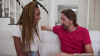 Uninspiring guys have a go fun with vivacious ebony darling Chanel Skye