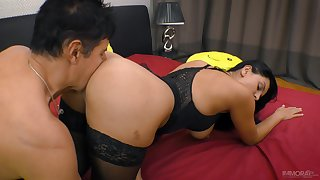 Tall Russian minx Kira Queen has a delicious ass increased by she fucks like a pro