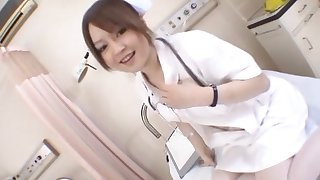 Japanese doctor Ria Sakurai with small tits, fucked by a patient