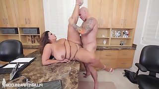 FAT Sofia Rose Gets Screwed On The Job