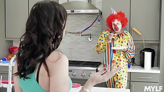 Strange fucking on the bed between a clown and Strange Alana Cruise
