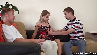 Young Monica A. subjects her man to a kinky cuckold experience