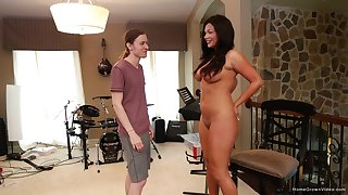 Passionate fucking ends with cum on ass be worthwhile for a shove around housewife