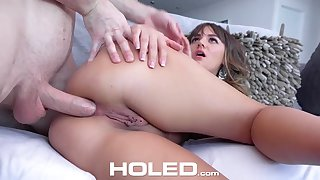 Charlotte owes her hostess a rent so she decides nigh fuck him
