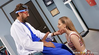 Naughty doctor with a Herculean learn of fucks starved Bella Rose
