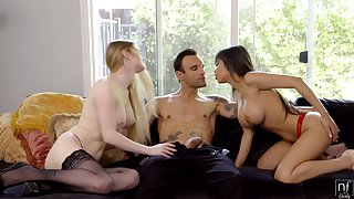 The man friends Bunny Colby and Shay Evans have an amazing threesome