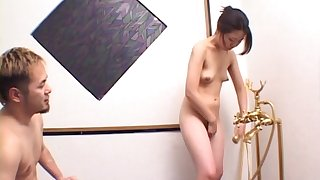 Wild fucking during a nuru rub-down with kinky expert Yuriko Takaoka