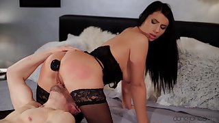Naughty Nelly Kent takes out her butt-plug to be ass fucked