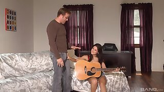 Ardent girl is keen to try her stepdad's broad in the beam dick in a few vocal rounds