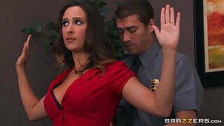 Alluring triad raison d'etre a sexy chick and two horny cops