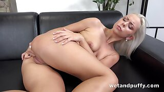 Tall Czech beauty Julia Parker is always horny and she loves masturbating