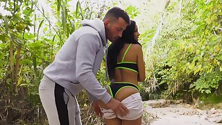 Sexual awe in fine open-air scenes for a premium Latina