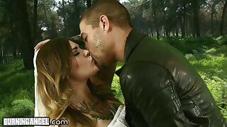 Fucking awesome tattooed babe is fucked by hot blooded panhandler Xsander Corvus