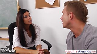 Steamy pounding in statement pose is fun for India Summer added to Bill Bailey