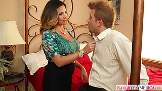 Lewd join in matrimony Danica Dillan seduces husband's friend and bangs him like a sex-starved hooker