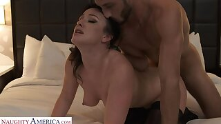 Jennifer Sallow shows first timer a good time with her hot assembly