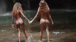Teen Girls Bring to light in Bali Waterfall
