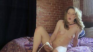 Slender cutie Kate Kennedy dominated wits master via webcam