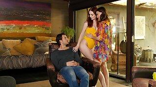 FFM threesome here hot ass friends Izzy Lush added to Maya Kendrick