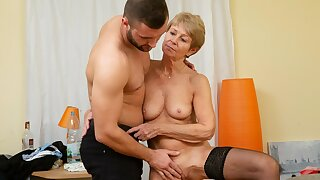 MATURE4K. Mature maid dragged come into possession of sex with handsome impoverish