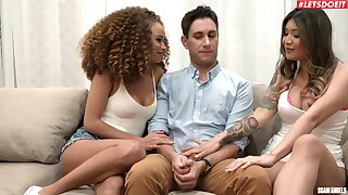 One hard dick is enough to please Brenna Sparks and Cecilia Lion