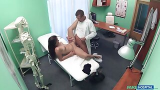 Doctor Examines Patient upon Cock
