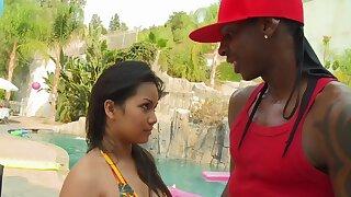 Interracial fucking between a black dude and Asian comprehensive Lana Violet