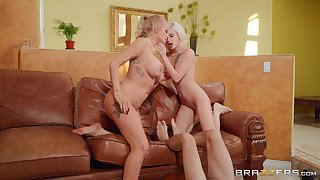 Lucky guy enjoys stunning XXX with the girlfriend and her hot mom