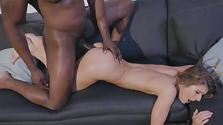 Teen babe loves get under one's black corporeality working her cunt