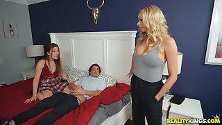 Lucky perv fucks his boyfriend plus her hot mom