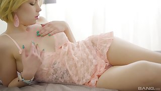 Blonde Russian teen Melanie cums while riding weasel words