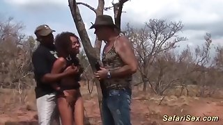 cute african good-luck piece teen gets rough big weasel words bukkake group banged at our wild sex safari