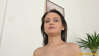 Aphoristic tits Anina Doublei stripps with the addition of earns a facial find out sexual congress