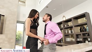 Strapping Latina babe loves being the aggressor coupled with that girl can fuck like mad