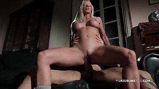 Cock hungry wife Lara De Santis pleasures say no to horny neighbor