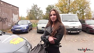 Cutest Hungarian babe Amirah Adara gets laid give the winning b open