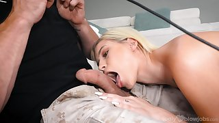 Sweet ass blonde gives head in remarkable XXX manner